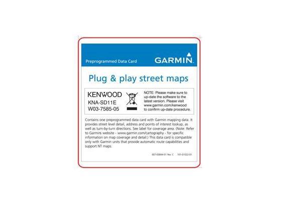 Navigation Map Updates • KNA-SD11E Accessories • KENWOOD UK