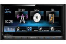 DDX7025BT - 17,7 cm Doppel-DIN-VGA-Monitor mit DVD-Spieler und Bluetooth-Freisprecheinrichtung