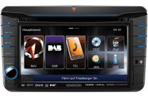 DNX525DAB - ALL-IN-ONE-Navigationssystem mit 17,7 cm Wide VGA-Monitor und DAB+ Tuner für VW, Skoda und Seat