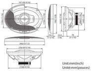 KFC-PS6975 - 6x9 3-smjerni Performance Standard sustav zvučnika