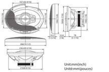 KFC-PS6995 - 6x9 5-smjerni Performance Standard sustav zvučnika