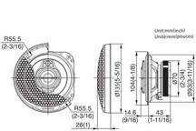 KFC-PS1095 - 10cm 3-smjerni Performance Standard sustav zvučnika