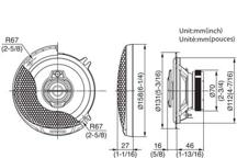 KFC-PS1395 - 13cm trosmjerni Performance Standard sustav zvučnika