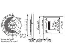 KFC-E1065 - 10cm dvosmjerni zvučnički sustav