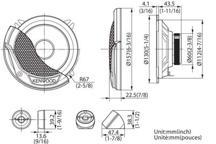 KFC-E130P - 13cm Komponentni sustav zvučnika