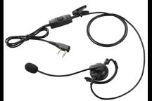 KHS-35F - Schwanenhals Mikrofon mit D Ohrbügelhörer und PTT