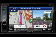 DNX4150BTR - 6,2 широкоформатный VGA экран, 2 DIN мультимедийный DVD ресивер с навигационной системой, встроенным Bluetooth.