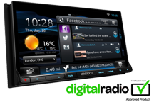 DNN9150DAB - 7.0 WVGA Wi-Fi Network DVD-Receiver with built-in Navigation System, Bluetooth & DAB tuner