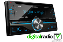 DPX406DAB - 2DIN CD-Receiver with DAB tuner & Bluetooth built-in
