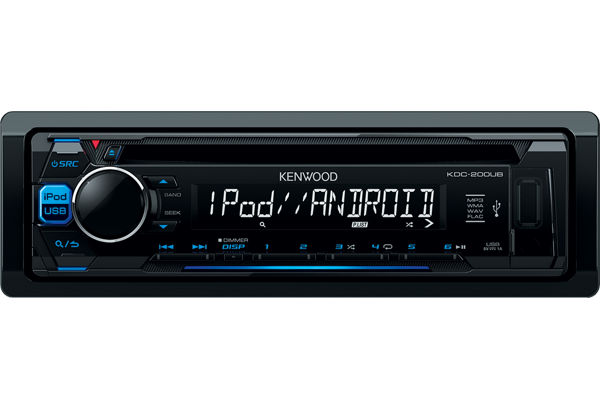 kdc 200ub car radio flac ipod iphone android usb kdc