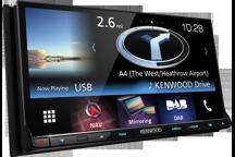 DNX8160DABS - 7.0 WVGA USB/SD/DVD přijímač se zabudovaným navigačním systémem, Bluetooth a DAB tunerem