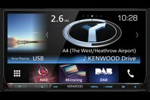 DNX8160DABS - Sistema di navigazione con monitor da 7 WVGA con Bluetooth e tuner DAB integrato