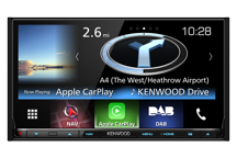 DNX8160DABS - 7.0 WVGA USB/SD/DVD-Receiver with built-in Navigation System, Bluetooth & DAB tuner