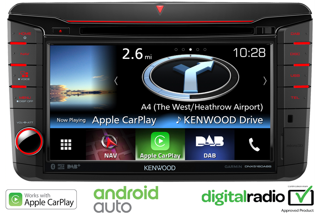 volkswagen dnx516dabs apple carplay android auto garmin. Black Bedroom Furniture Sets. Home Design Ideas