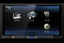 DMX100 - 2016. Бездисковый мультимедийный ресивер.  6.8 wVGA, 4х50Вт, USB, 3 п.лин.вых., 7-полосн. эквал.
