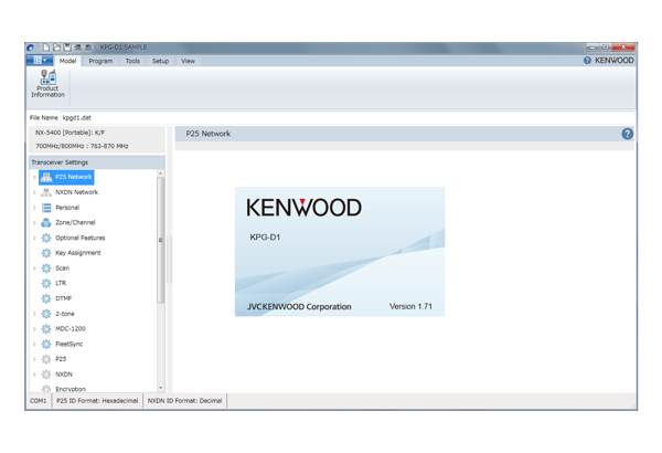 Software • KPG-D1E Features • Kenwood Comms