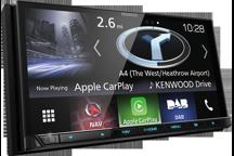 """DNX8170DABS - Système de navigation 7.0"""" WVGA avec Bluetooth, radio DAB intégrés et contrôle smartphone"""