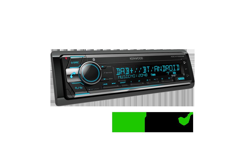 KDC-X71000DAB Bluetooth DAB Radio CD Receiver • Kenwood UK