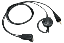 EMC-14 - Clip microphone with Earphone (ear-hanging)