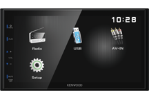 DMX110 - 2018. Без диска. Короткий корпус 75мм. 6.8 wVGA, 4х50Вт, USB/тюнер FM/AM, синяя подсветка кнопок
