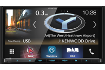 "DNX8180DABS - 7.0"" AV Navigation System with Smartphone control, Bluetooth & DAB+ Radio."