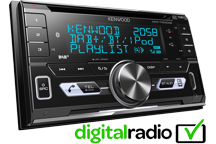 DPX-7100DAB - 2-DIN CD-Receiver with Built-in Bluetooth & DAB+ Radio.