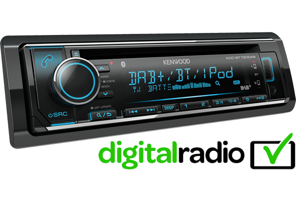 KDC-BT720DAB DAB, Bluetooth, iPhone, Spotify car stereo