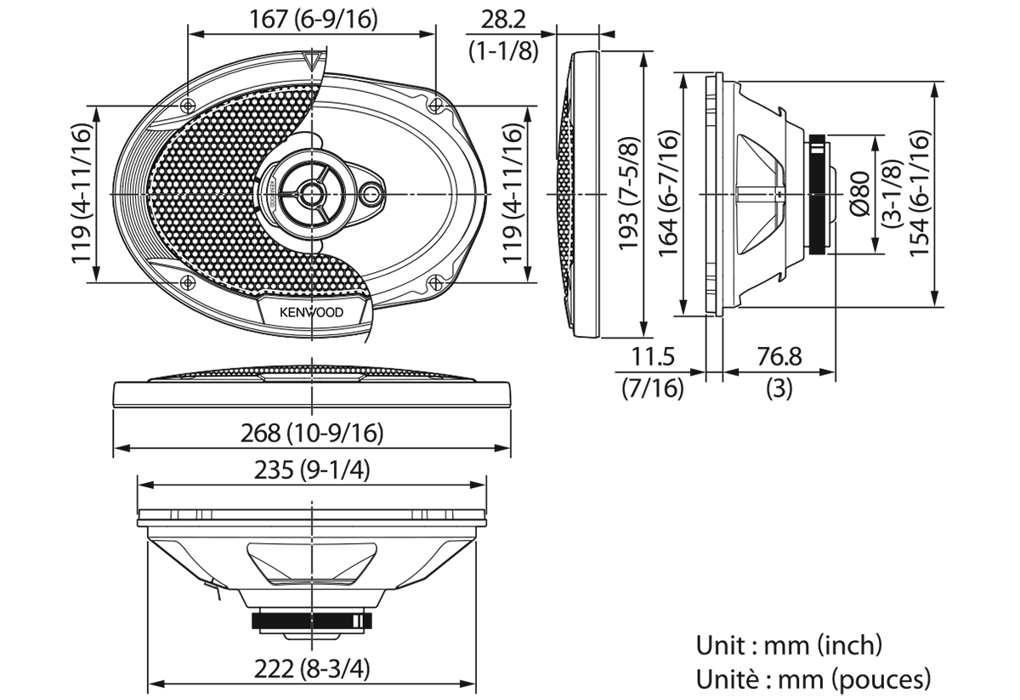 Kenwood KFC-S6966 - Speaker Specifications (4-1144)