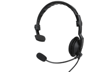 KHS-7A-SD - Single Muff Headset with Boom Microphone & PTT (1-pin)