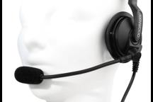 KHS-7A-SD - Einseitiges Headset mit Schwanenhalsmikrofon und Inline-PTT