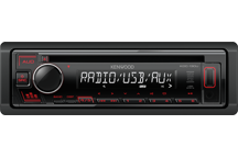 KDC-130UR - CD-Receiver with Front USB & AUX Input.