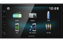 DMX125DAB - 6,8 'Mechless' AV-Receiver met DAB+ en Bluetooth. Ondersteund Android Mirroring via USB