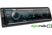 KMM-BT506DAB - Digital Media Receiver with Bluetooth & Digital Radio DAB+ built-in, Spotify & Amazon Alexa ready