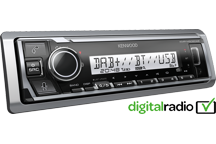 KMR-M506DAB - Autoradio Mechaless ad uso marino con Bluetooth, Spotify e connessione diretta ad Amazon Alexa . Radio digitale DAB +