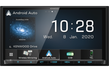 DMX8020DABS - 7.0 Digitale AV Media receiver met Apple CarPlay, Android Auto en Android Mirroring ondersteuning via USB & Wi-Fi verbinding.