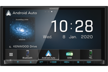 DMX7520DABS - Digital Media AV-Receiver mit Smartphone-Anbindung über Kabel, Bluetooth & Digital Radio DAB+.