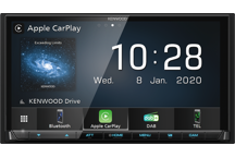 DMX7520DABS - 7.0 Digitale AV Media receiver met Apple CarPlay, Android Auto en Android Mirroring ondersteuning via USB verbinding.