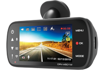 DRV-A501W - Cámara DashCam con pantalla incorporada y enlace Wireless Link y GPS