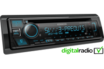 KDC-BT950DAB - CD/USB Receiver with Bluetooth & Digital Radio DAB+ built-in