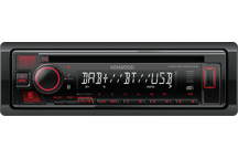 KDC-BT450DAB - DAB+ autoradio/CD/USB met Bluetooth en rode toetsverlichting. Ondersteund Spotify & KENWOOD Remote App.