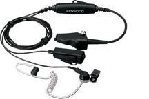 KHS-11BL - Tarnmikrofon mit Ohrhörer, integrierte PTT (schwarz)