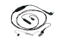 KHS-9BL - Tarnmikrofon mit Ohrhörer, separate PTT (schwarz)