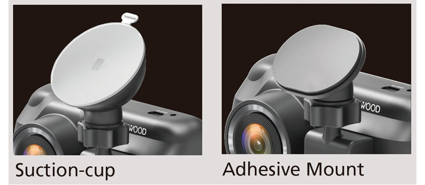 DRV-A601W suction or adhesive mount