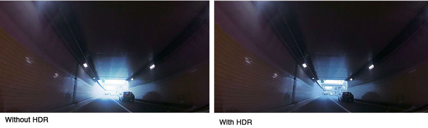 DRV-A501W HDR reduces blown out highlights