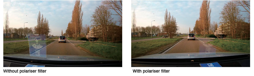 DRV-A601W polarised filter