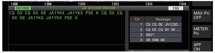 TS-890Se morse code