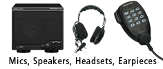 Microphones, Speakers, Headsets, Earpieces