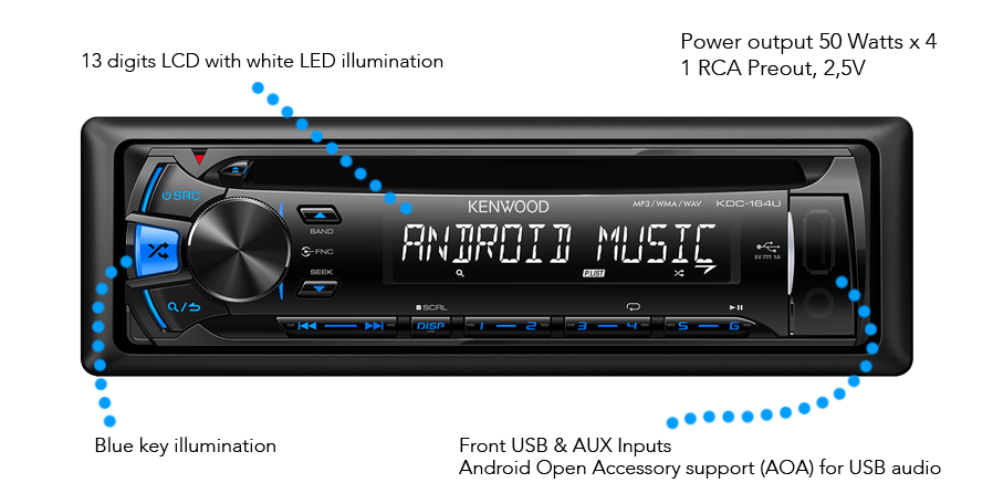 KDC 164UB KeyFeatures usb android car stereo \u2022 kdc 164ub features \u2022 kenwood uk kenwood kdc 155u wiring diagram at edmiracle.co