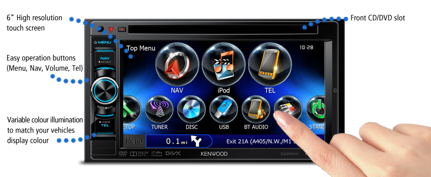 "DNX4230TR 6"" Touch Screen"