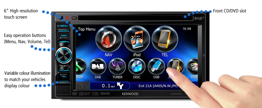 "DNX4230DAB 6"" Touch Screen"
